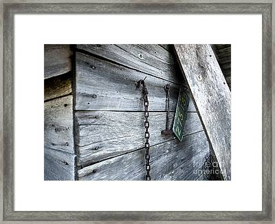 Milk Shed Framed Print