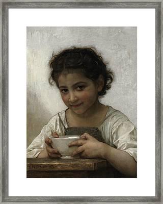 Milk Soup Framed Print