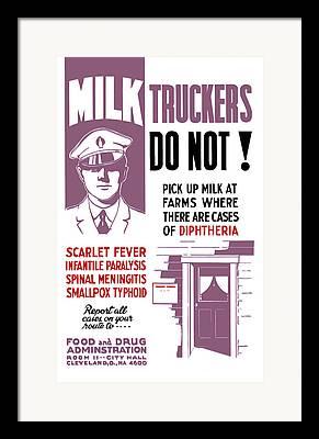 Milkman Framed Prints