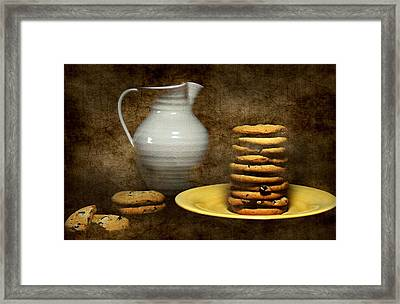 Milk With Cookies Framed Print