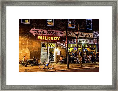 Framed Print featuring the photograph Milkboy - 1033 by David Sutton