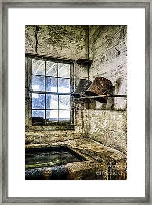 Milking Room Framed Print by John Greim