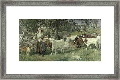 Milkmaids Framed Print by Basil Bradley