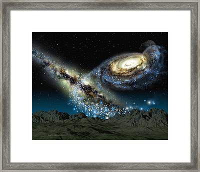 Milkomeda Framed Print by Lynette Cook