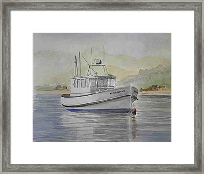 Milkshake Boat Framed Print