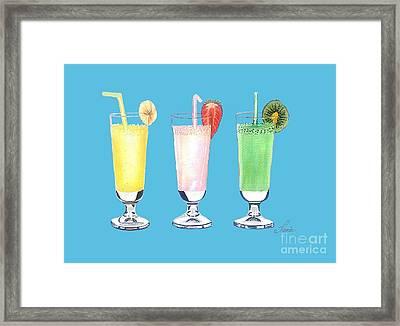 Milkshake In Style Framed Print by Sonja Taljaard