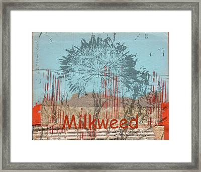 Milkweed Collage Framed Print