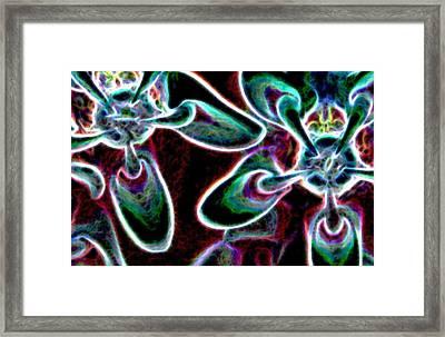 Milkweed In Neon 2 Framed Print