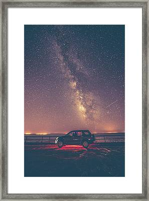 Car Under Milky Way Framed Print by Okan YILMAZ