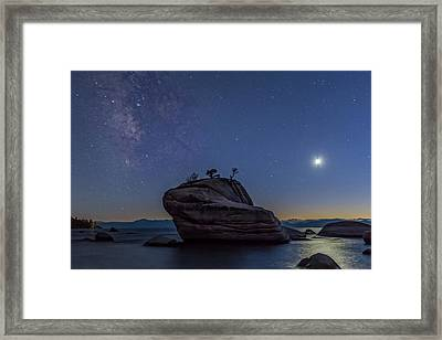 Milky Way Above Bonsai Rock Framed Print by Marc Crumpler
