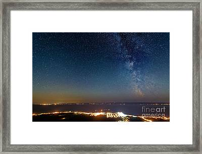 Milky Way Above Carleton In Quebec Framed Print by Colin Woods
