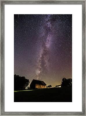 Milky Way And Barn Framed Print