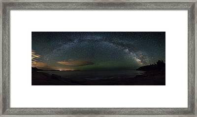 Milky Way Arch Framed Print