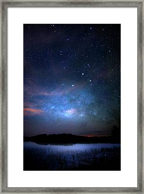 Milky Way At 9 Mile Pond Framed Print by Mark Andrew Thomas