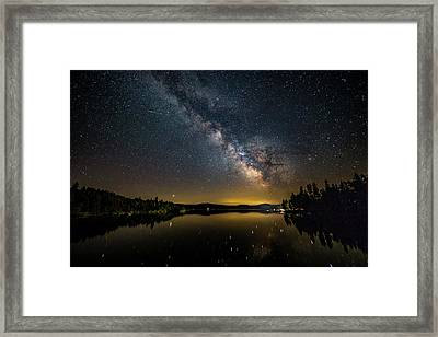 Milky Way At Hunter Cover Framed Print