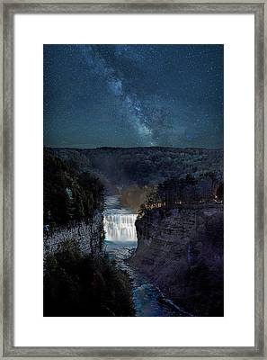 Milky Way At Inspiration Point Framed Print