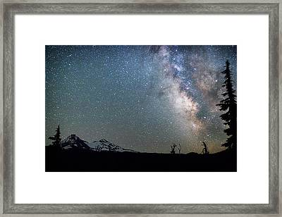 Framed Print featuring the photograph Milky Way At Mckenzie Pass by Cat Connor