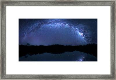 Framed Print featuring the photograph Milky Way At Mrazek Pond by Mark Andrew Thomas