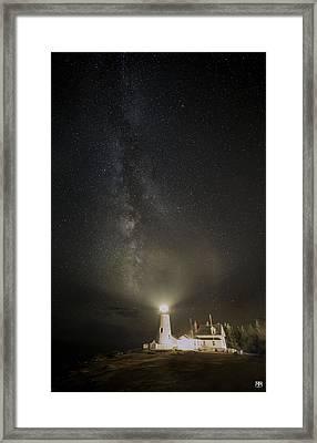 Milky Way At Pemaquid Light Framed Print