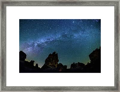 Milky Way At Phyrgia Framed Print by Okan YILMAZ
