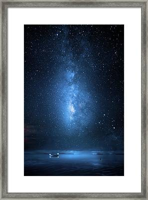 Milky Way Bay Framed Print by Mark Andrew Thomas