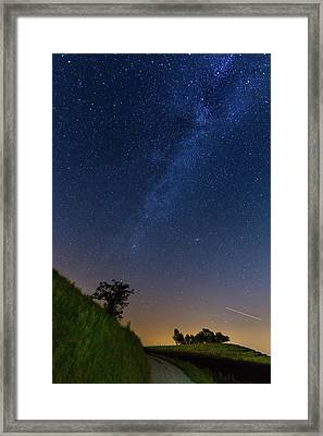 Framed Print featuring the photograph Milky Way by Davor Zerjav