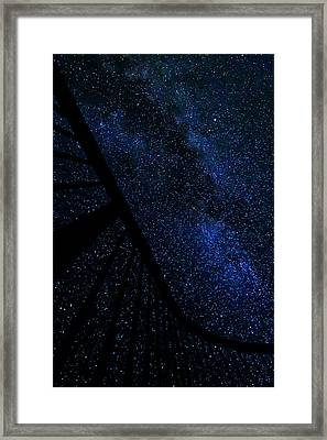 Milky Way Fence Framed Print by Pelo Blanco Photo