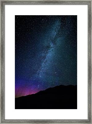 Milky Way Galaxy After Sunset Framed Print by Dan Pearce