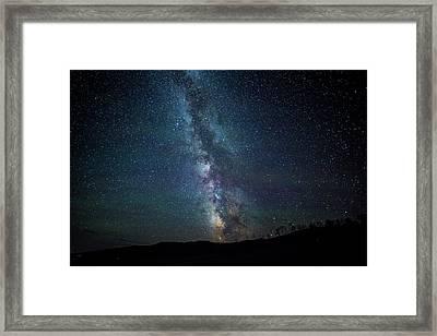Milky Way Galaxy Framed Print by Dan Pearce