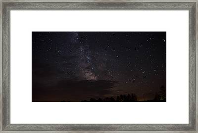 Framed Print featuring the photograph Milky Way by Gary Wightman