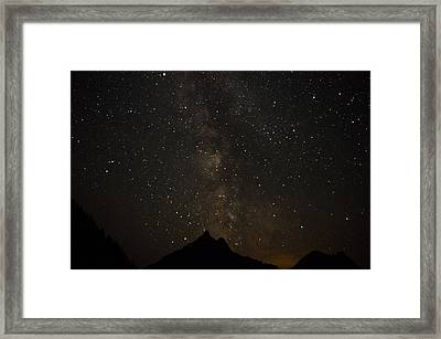 Milky Way, Glacier Nat'l Park Framed Print
