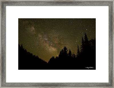 Milky Way In The Whites Framed Print