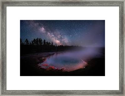 Milky Way In Yellowstone Framed Print