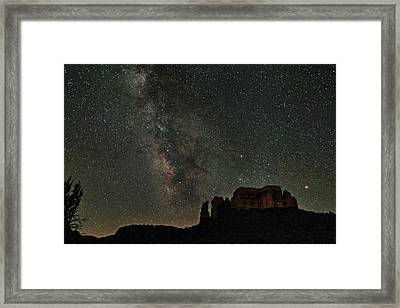 Milky Way Jupiter And Millions Of Sparkling Stars Framed Print by Donna Kennedy