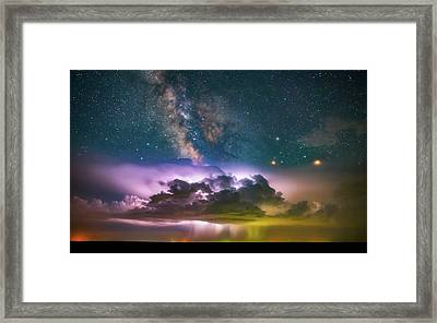 Milky Way Monsoon Framed Print by Darren White