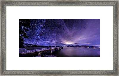 Milky Way Mountains Framed Print