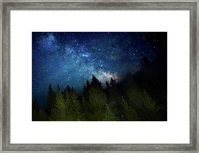 Milky Way On The Mountain Framed Print