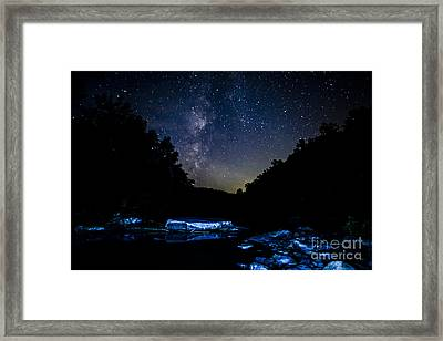 Milky Way Over Baptizing Hole Framed Print