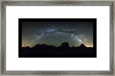 Milky Way Over Bell Framed Print by Tom Kelly