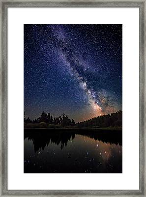 Milky Way Over The Deschutes River Framed Print