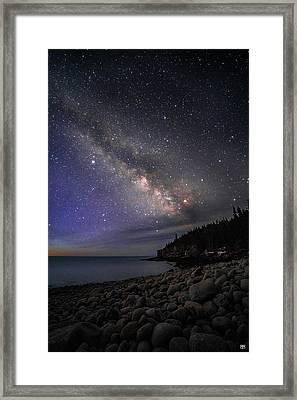 Milky Way Over Boulder Beach Framed Print