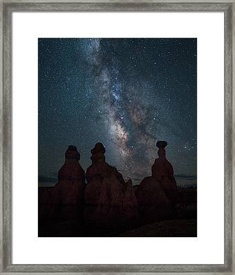 Milky Way Over Bryce Canyon Framed Print