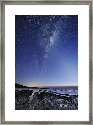 Milky Way Over Cape Otway, Australia Framed Print by Alex Cherney, Terrastro