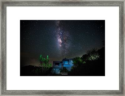 Milky Way Over Casa Angular  Framed Print by Karl Alexander