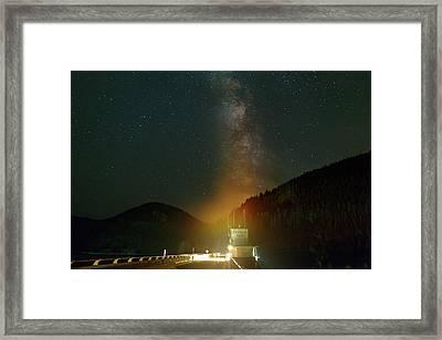 Milky Way Over Detroit Dam Framed Print