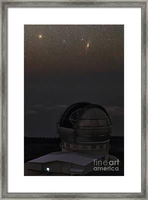 Milky Way Over Gran Telescopio Canarias Framed Print