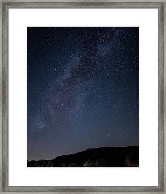 Milky Way Over Lake Henshaw Framed Print
