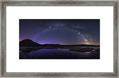 Milky Way Over Lonesome Lake Framed Print