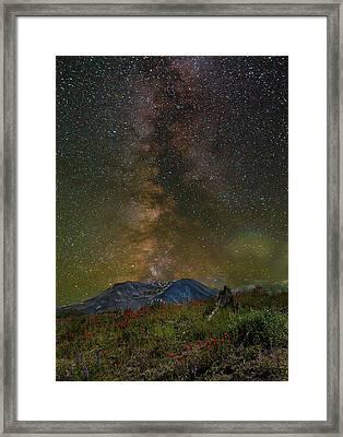 Milky Way Over Mount St Helens Framed Print