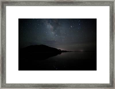 Milky Way Over Pamlico Sound Framed Print by Daniel Lowe